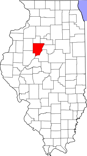 Peoria- Countys-location-in- Illinois